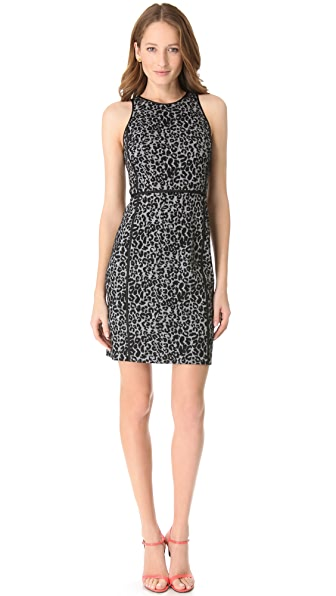 Rebecca Taylor Leopard Knit Shift Dress