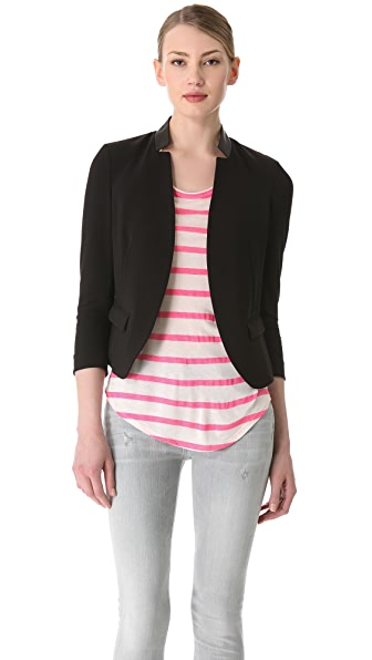 Rebecca Taylor Leather Trim Blazer