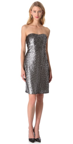 Rebecca Taylor Sequin Strapless Dress