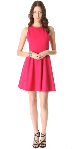 Rebecca Taylor Pleated Ponte Dress at Shopbop.com