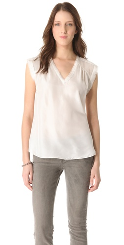 Rebecca Taylor Silky Bit Top at Shopbop.com