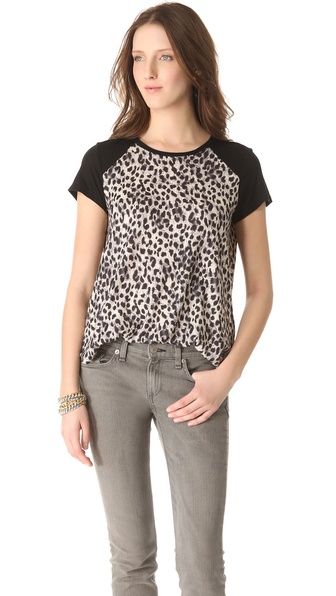 Rebecca Taylor Leopard Print Tee