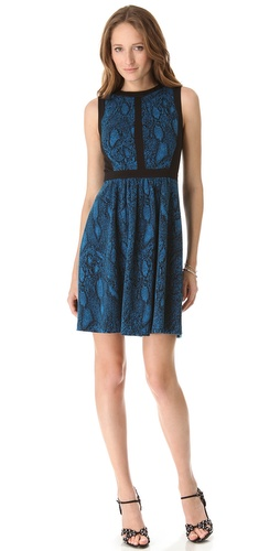Rebecca Taylor Python Fit & Flare Dress at Shopbop.com