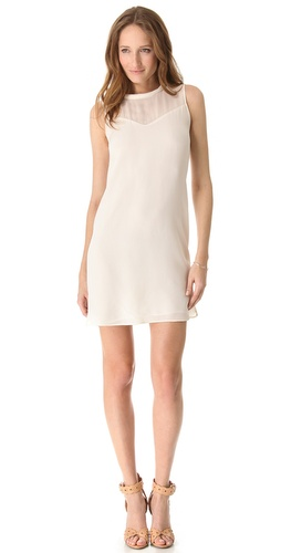 Rebecca Taylor Classic Silk Shift Dress
