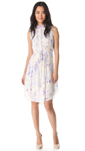 Rebecca Taylor Hawaii Dress with Beaded Collar