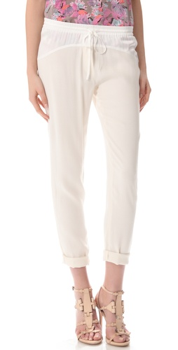 Rebecca Taylor Crepe Track Pants