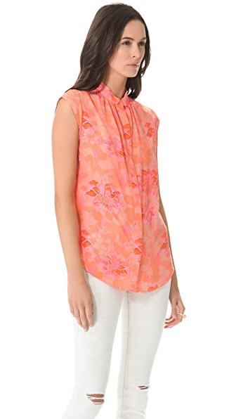 Rebecca Taylor Hibiscus Shirt