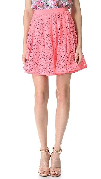 Rebecca Taylor Eyelet Godet Skirt