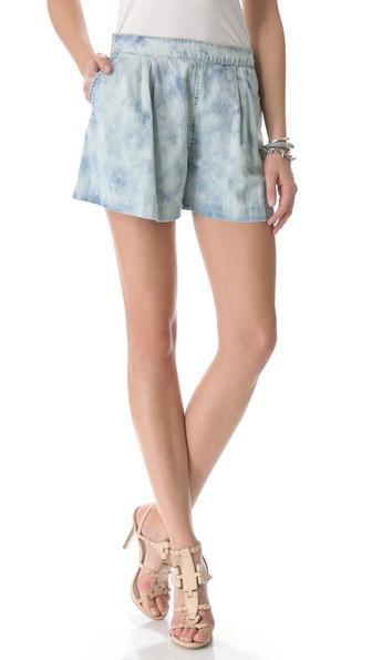 Rebecca Taylor Bleached Denim Shorts