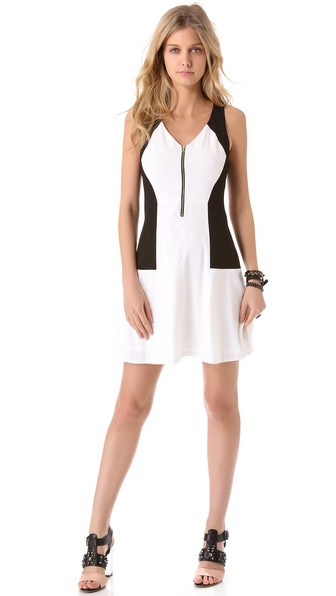 Rebecca Taylor Blocked Shift Dress