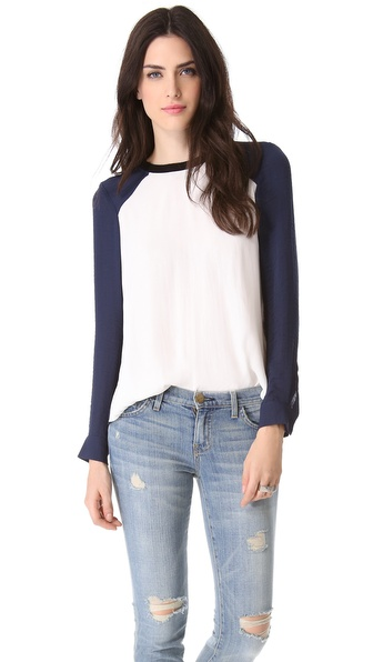 Rebecca Taylor Colorblock Blouse