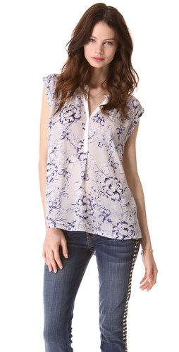 Rebecca Taylor Zen Flower Sleeveless Top