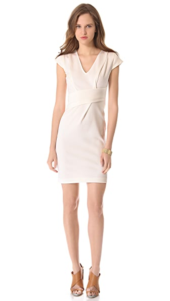 Rebecca Taylor Asymmetrical V Neck Dress
