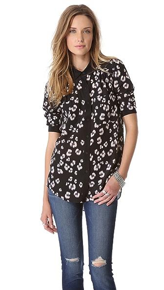 Rebecca Taylor Bobcat Long Sleeve Shirt
