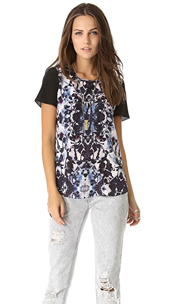 Rebecca Taylor Silk Floral Tee