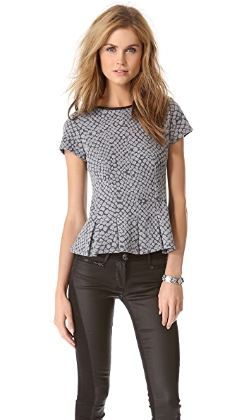 Rebecca Taylor Pleated Croc Top