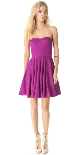 Rebecca Taylor Textured Strapless Dress at Shopbop / East Dane