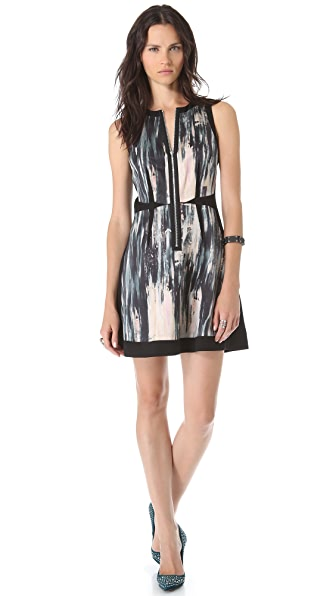 Rebecca Taylor Brushstroke Panel Dress
