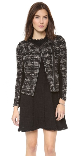 Rebecca Taylor Boucle & Leather Jacket at Shopbop / East Dane