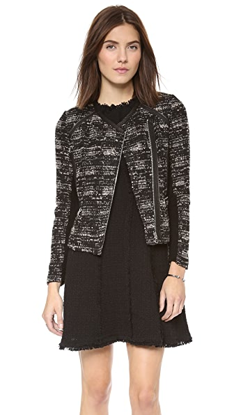 Rebecca Taylor Boucle & Leather Jacket