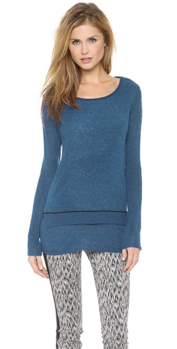 Rebecca Taylor Boucle Layered Pullover at Shopbop / East Dane