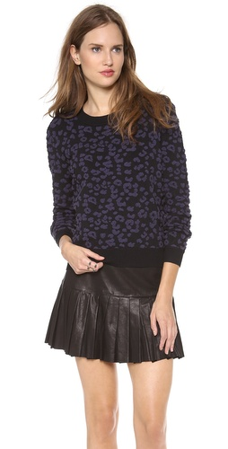 Rebecca Taylor Leopard Pullover at Shopbop / East Dane