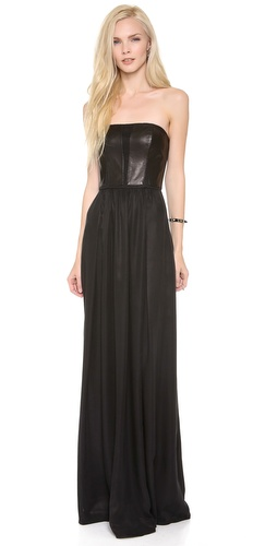 Rebecca Taylor Strapless Leather Maxi Dress at Shopbop / East Dane