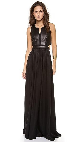 Rebecca Taylor Sleeveless Cutout Maxi Dress