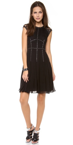 Rebecca Taylor Cap Sleeve Dress with Lace Insets at Shopbop / East Dane