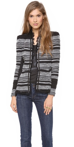 Rebecca Taylor Stripe Tweed Peplum Jacket at Shopbop / East Dane