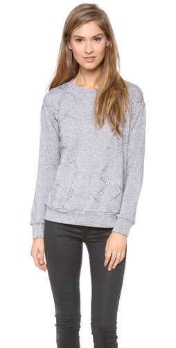 Rebecca Taylor Faceted Embellished Sweatshirt at Shopbop / East Dane