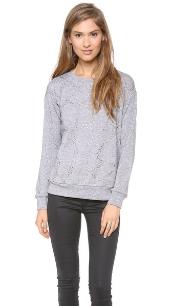 Rebecca Taylor Faceted Embellished Sweatshirt