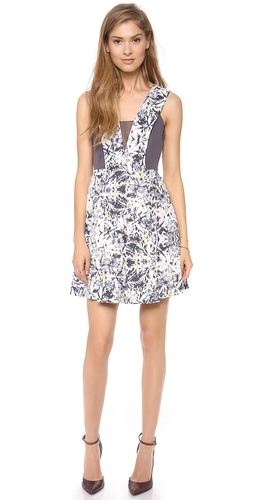Rebecca Taylor Halter Dress with Chiffon Inset at Shopbop / East Dane