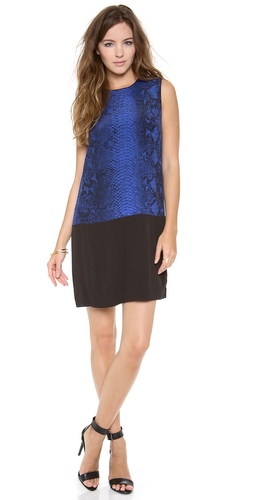 Rebecca Taylor Sleeveless Python Shift Dress at Shopbop / East Dane