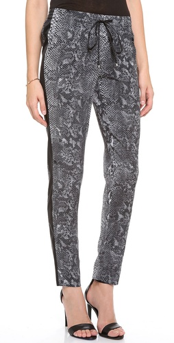 Rebecca Taylor Python Drawstring Pants at Shopbop / East Dane