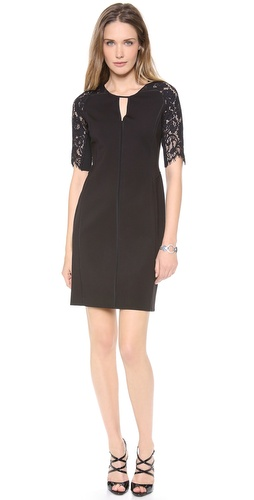 Rebecca Taylor Fitted Dress with Lace Insets at Shopbop / East Dane