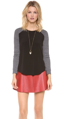 Rebecca Taylor Long Sleeve Baseball Tee at Shopbop / East Dane