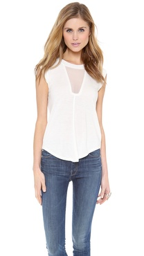 Rebecca Taylor Short Sleeve Sheer Tee