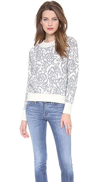 Rebecca Taylor Floral Pullover