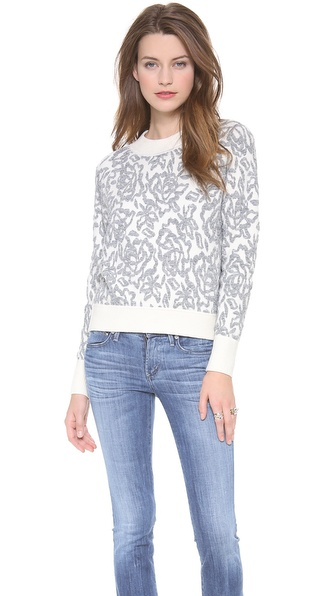 Rebecca Taylor Floral Pullover - Cream Combo at Shopbop / East Dane