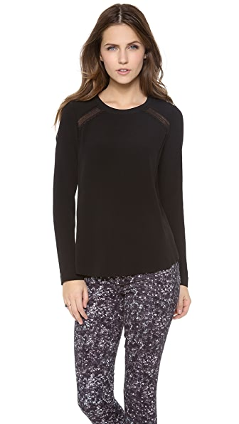 Rebecca Taylor Lace Combo Blouse
