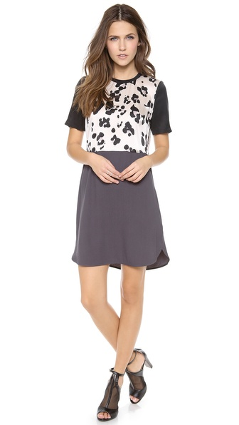 Rebecca Taylor Cool Cat Print Dress - Cream at Shopbop / East Dane