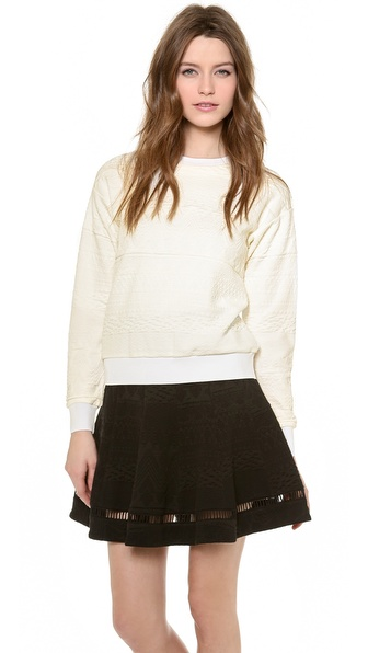 Rebecca Taylor Jacquard Sweater - White at Shopbop / East Dane