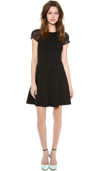 Rebecca Taylor Jacquard Dress - Black at Shopbop / East Dane