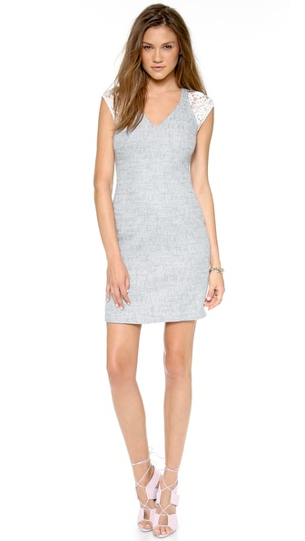 Rebecca Taylor Short Sleeve Tweed Dress - Shark at Shopbop / East Dane