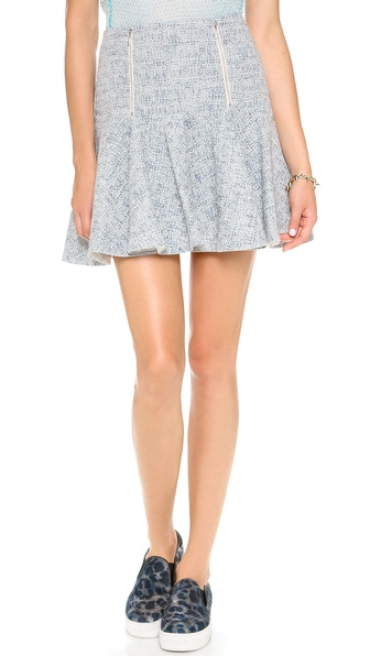Rebecca Taylor Tweed Skirt With Zips - Shark at Shopbop / East Dane