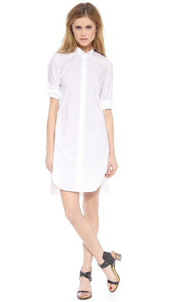 Rebecca Taylor Long Sleeve Shirtdress - Chalk at Shopbop / East Dane