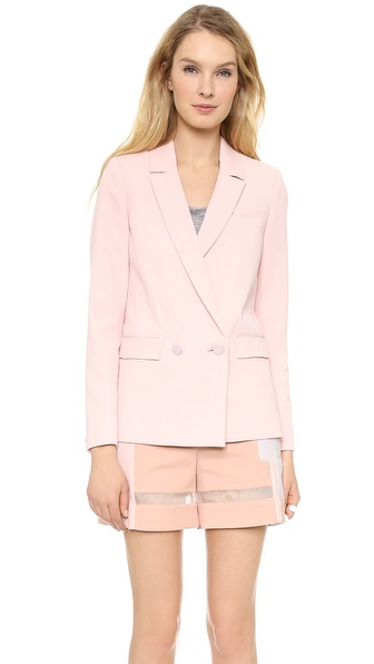 Rebecca Taylor Double Breasted Jacket - Nude at Shopbop / East Dane