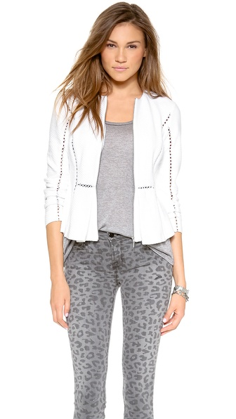 Rebecca Taylor Inset Jacket - Sea Salt at Shopbop / East Dane