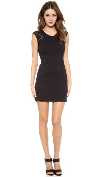 Rebecca Taylor Textured Shift Dress - Black at Shopbop / East Dane